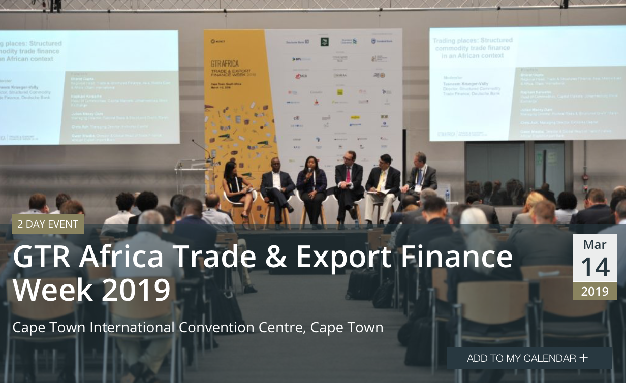 GTR Africa Trade & Export Finance Week 2019